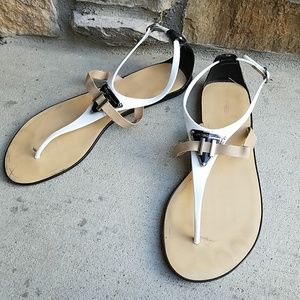 BCBG ENERATION SANDALS FLATS WITH STRAP 9